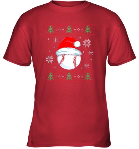 8yuz ugly christmas baseball shirt boys kids ball santa pajama youth t shirt 26 front red