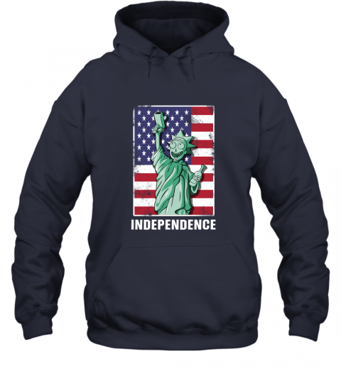 nmun rick and morty statue of liberty independence day 4th of july shirts hoodie 23 front navy