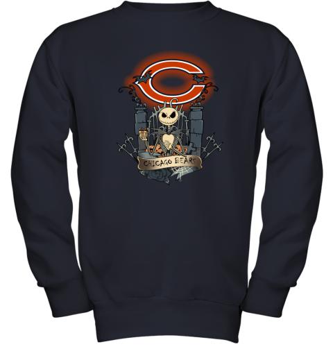 Chicago Bears Jack Skellington This Is Halloween NFL Youth Sweatshirt