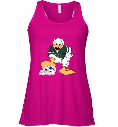 hur6 you cannot win against the donald new york jets nfl flowy tank 32 front neon pink