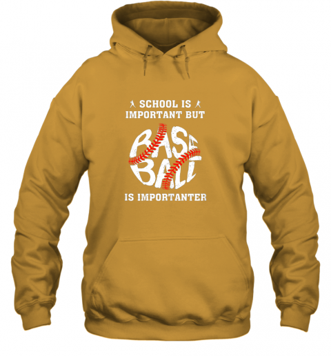 s2wx school is important but baseball is importanter hoodie 23 front gold