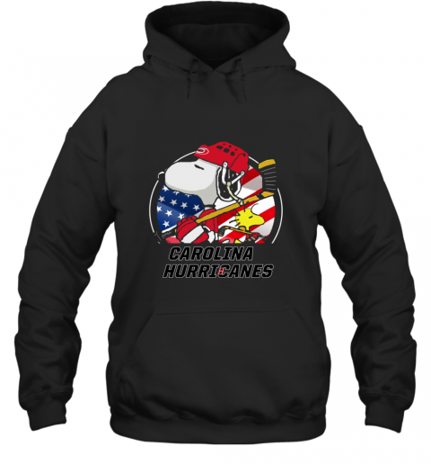 Carolina Hurricanes  Snoopy And Woodstock NHL Hoodie