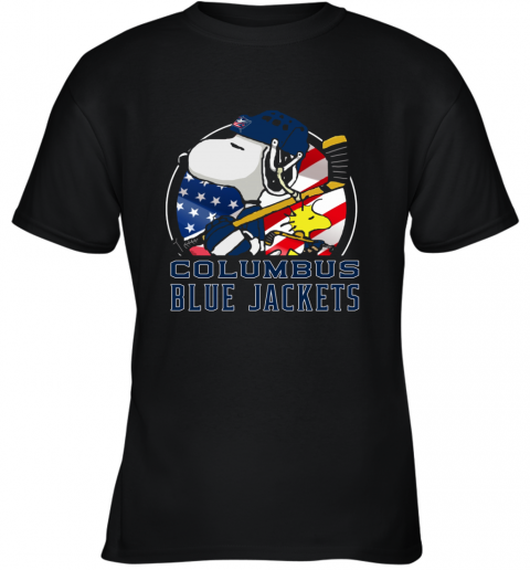 Columbus Blue Jackets  Snoopy And Woodstock NHL Youth T-Shirt