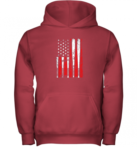 ykpl vintage baseball bat american usa flag gift youth hoodie 43 front red