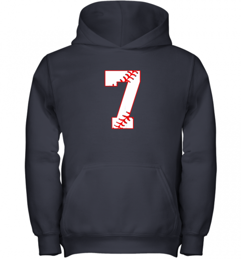uehl cute seventh birthday party 7th baseball shirt born 2012 youth hoodie 43 front navy