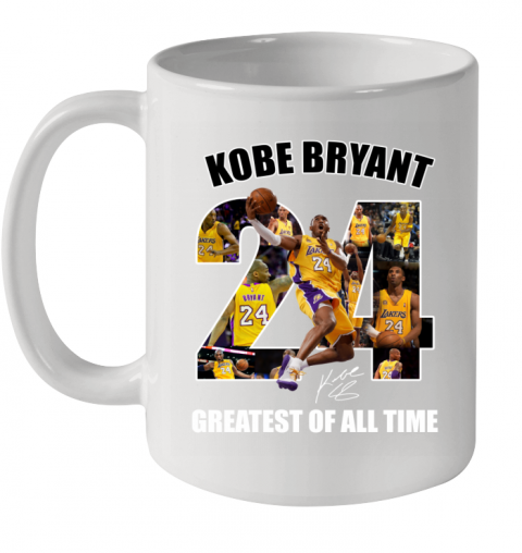 Kobe Bryant Greatest Of All Time Number 24 Signature Ceramic Mug 11oz