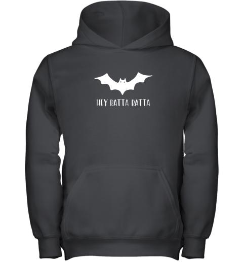 Halloween Bat Shirt Funny Baseball Lover Hey Batta Gift Youth Hoodie