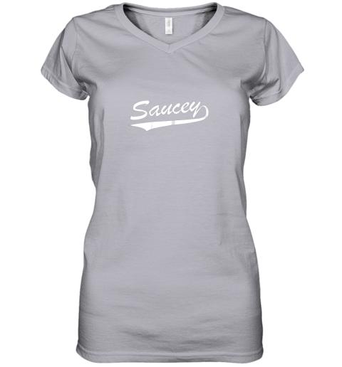 sgok saucey swag baseball women v neck t shirt 39 front sport grey