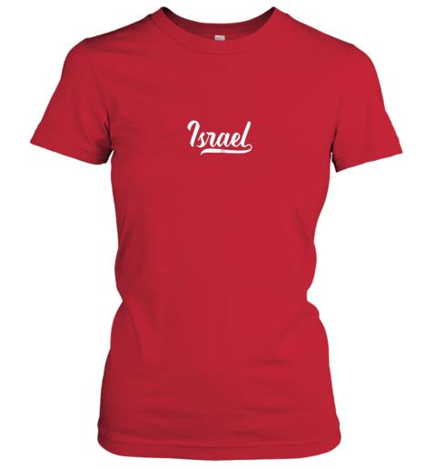 c1jq israel baseball national team fan cool jewish sport ladies t shirt 20 front red