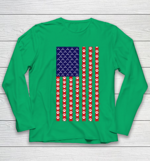 Hockey Dog Lover American Flag Youth Long Sleeve 12
