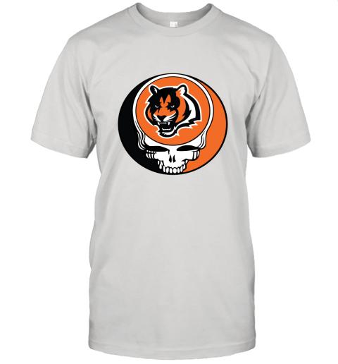NFL Team Cincinnati Bengals x Grateful Dead Logo Band Unisex Jersey Tee