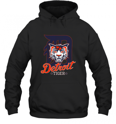 Tiger Mascot Distressed Detroit Baseball T shirt New Hoodie