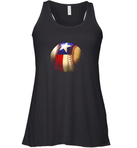 Texas Flag Baseball Racerback Tank