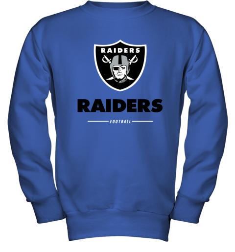 g3kk oakland raiders nfl pro line black team lockup youth sweatshirt 47 front royal