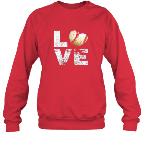 jean i love baseball funny gift for baseball fans lovers sweatshirt 35 front red