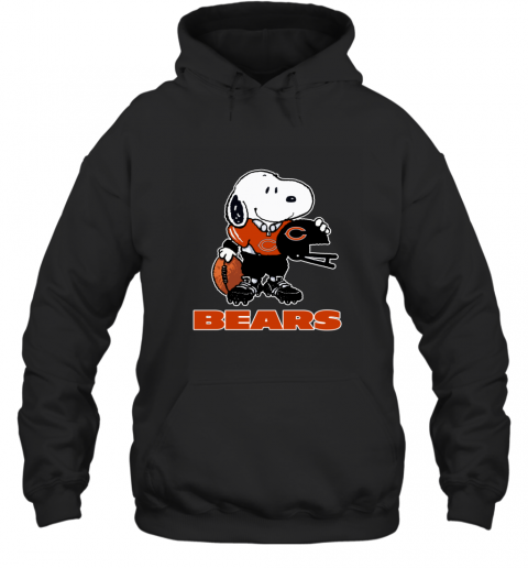 Snoopy A Strong And Proud Chicago Bears Player NFL Hoodie