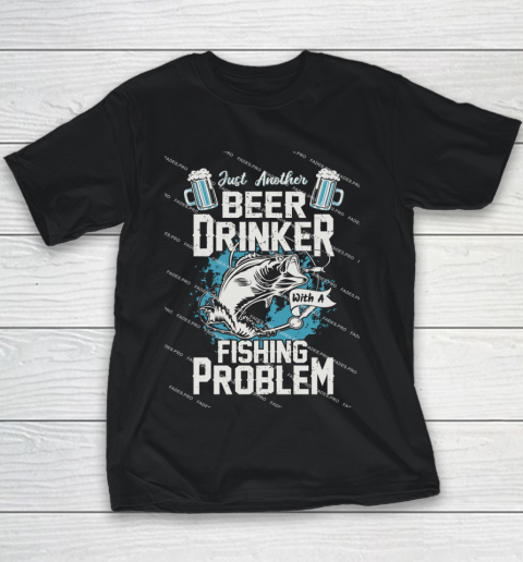 Beer Lover Funny Shirt Fishing ANd Beer Youth T-Shirt 1