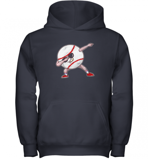 y8bt kids funny dabbing baseball player youth shirt cool gift boy youth hoodie 43 front navy