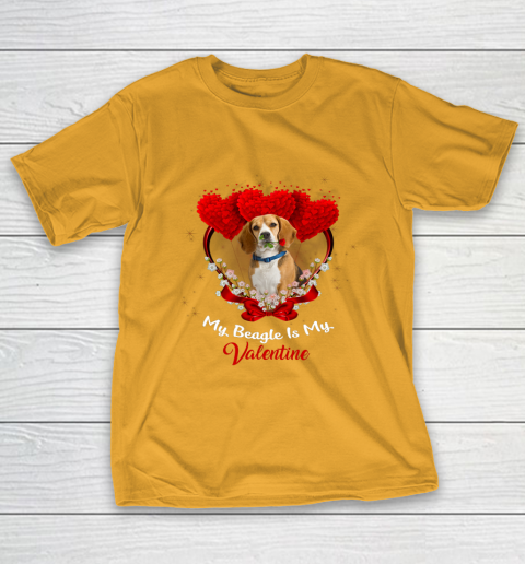 My Beagle is My Valentine Day 2019 Dog T-Shirt 2