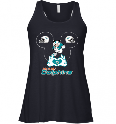 a2sk i love the dolphins mickey mouse miami dolphins flowy tank 32 front midnight