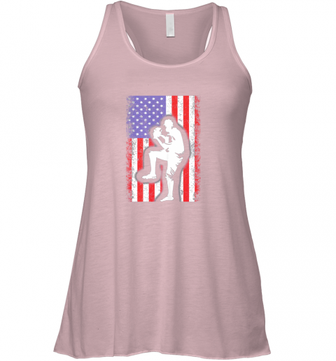 s1ml vintage usa american flag baseball player team gift flowy tank 32 front soft pink