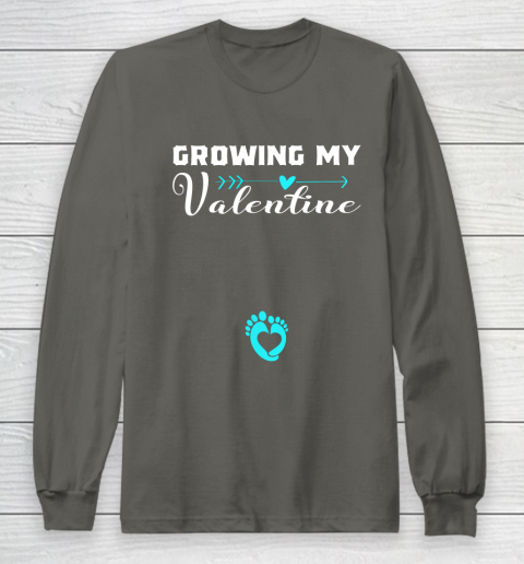 Cute Growing my Valentine Gift for Women pregnancy Long Sleeve T-Shirt 5
