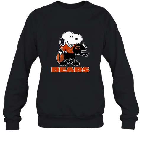 Snoopy A Strong And Proud Chicago Bears Player NFL Sweatshirt
