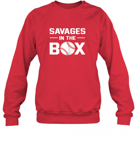 fyfz savages in the box shirt baseball gift sweatshirt 35 front red