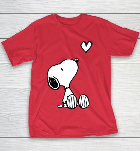 Peanuts Valentine Snoopy Heart Youth T-Shirt 7