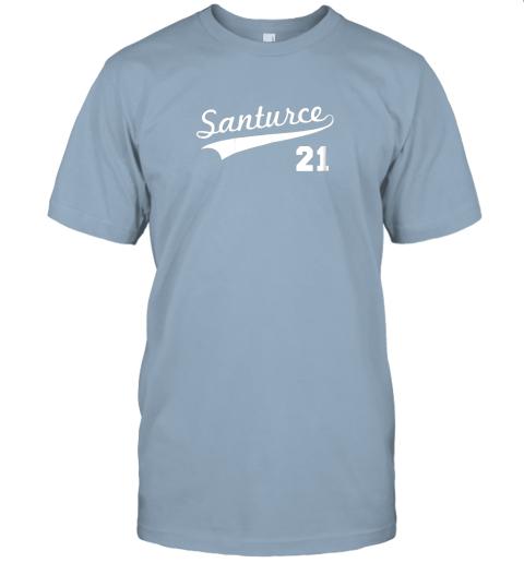 tbft vintage santurce 21 puerto rico baseball jersey t shirt 60 front light blue