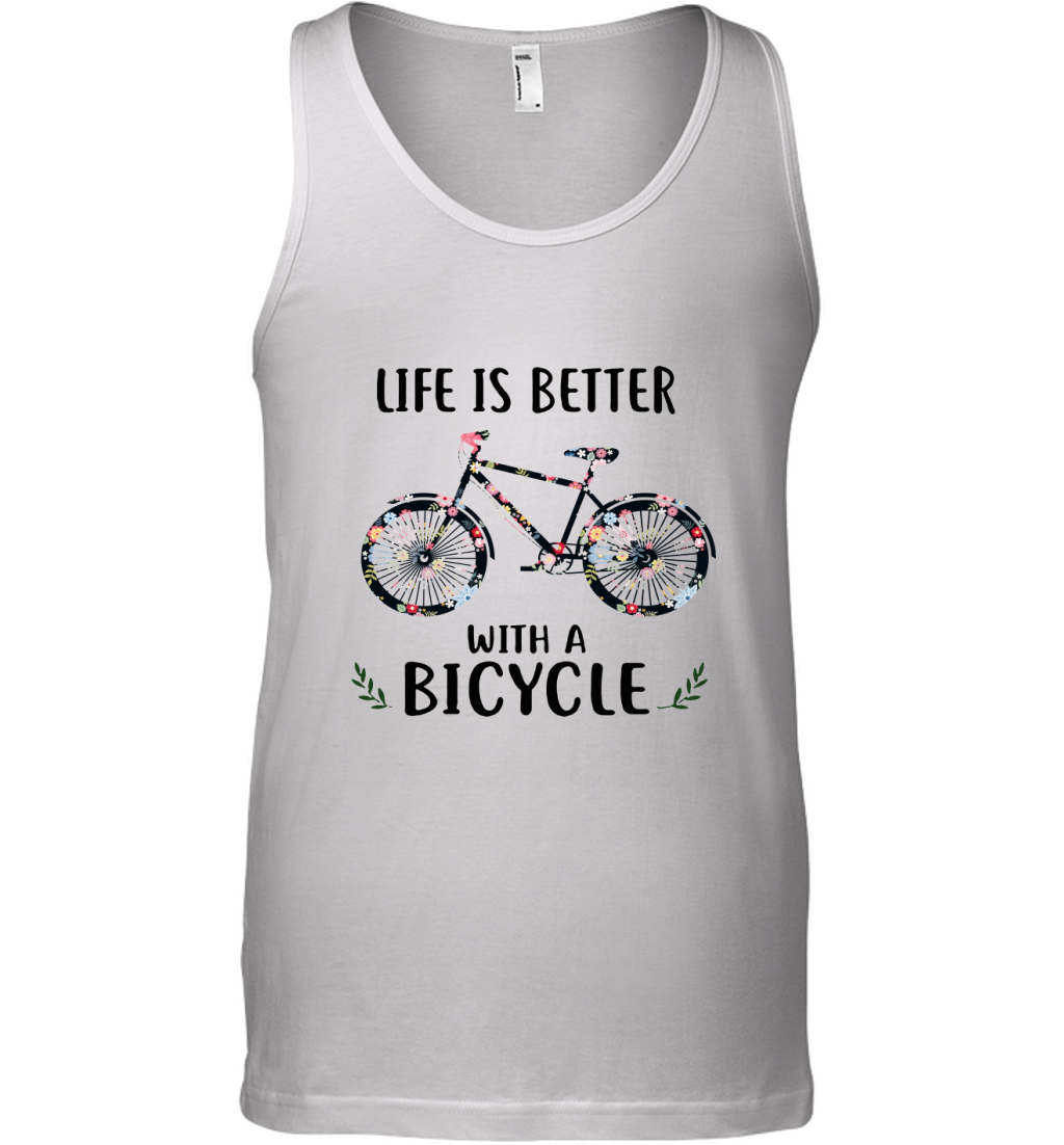 Life Is Better With A Bicycle Floral Tank Top