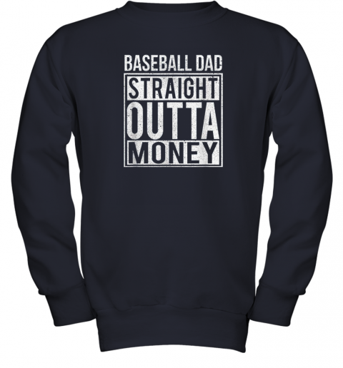 jrwm mens baseball dad straight outta money shirt i funny pitch gift youth sweatshirt 47 front navy