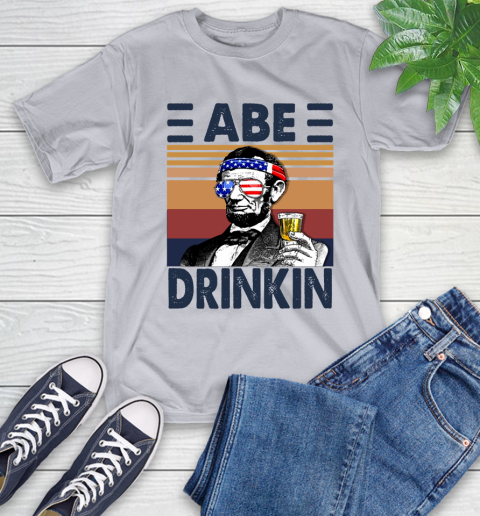 Abe Drinkin Independence Day The 4th Of July Shirt T-Shirt 5