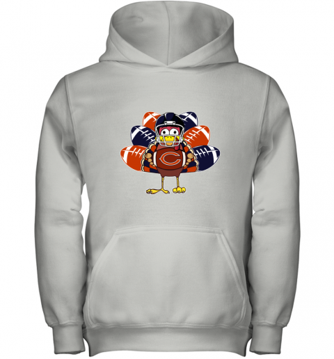 Chicago Bears  Thanksgiving Turkey Football NFL Youth Hoodie