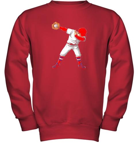 nlps dabbing baseball t shirt funny dab dance shirts boys girls youth sweatshirt 47 front red