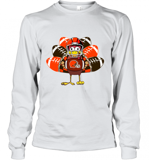 Cleveland Browns  Thanksgiving Turkey Football NFL Youth Long Sleeve