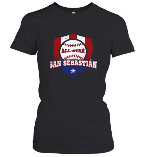 San Sebastian Puerto Rico Puerto Rican PR Baseball Women's T-Shirt