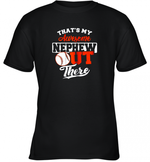 That's My Awesome Grandson Out There Baseball Youth T-Shirt