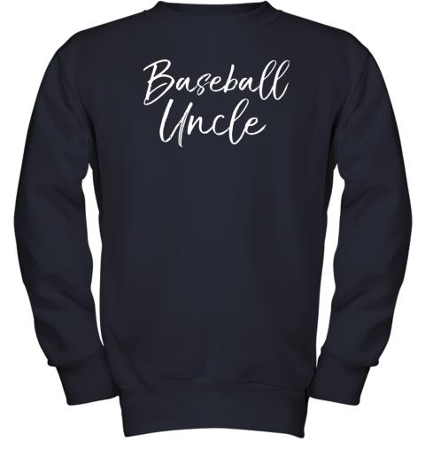 kyqt baseball uncle shirt for men cool baseball uncle youth sweatshirt 47 front navy