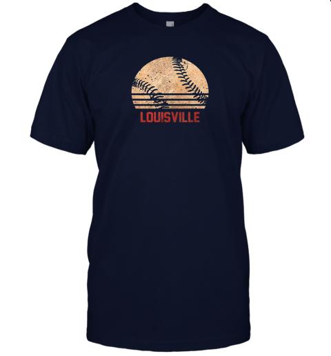 sm8l vintage baseball louisville shirt cool softball gift jersey t shirt 60 front navy