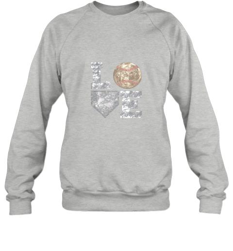 mmz1 baseball distressed ball cute dad mom love gift sweatshirt 35 front sport grey