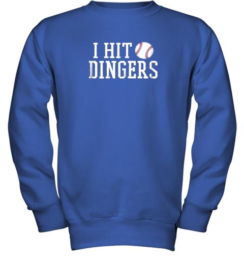 rwc2 i hit dingers shirt for sluggersfunny baseball youth sweatshirt 47 front royal