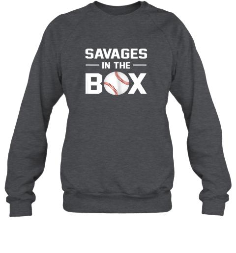 fyfz savages in the box shirt baseball gift sweatshirt 35 front dark heather