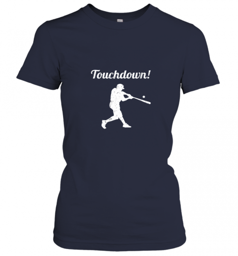 mp1f touchdown funny baseball ladies t shirt 20 front navy