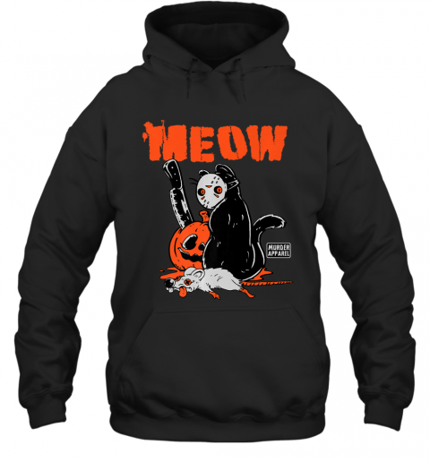 Killer Cat Halloween Pumpkin Vintage Premium Hoodie