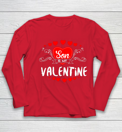 Mother Valentines Day Son Is My Valentine Youth Long Sleeve 8