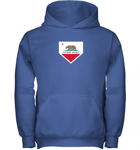 tw8b vintage baseball home plate with california state flag youth hoodie 43 front royal