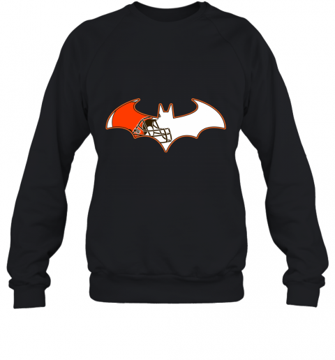 qunl we are the cleveland browns batman nfl mashup sweatshirt 35 front black