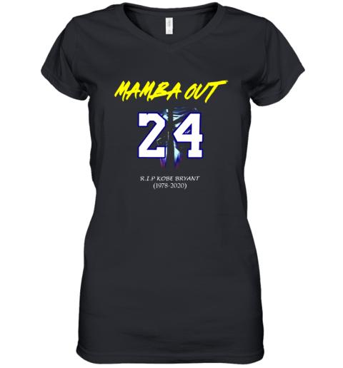 Mamba out 24 R.I.P Kobe Bryant 1978 2020 shirt Women's V-Neck T-Shirt