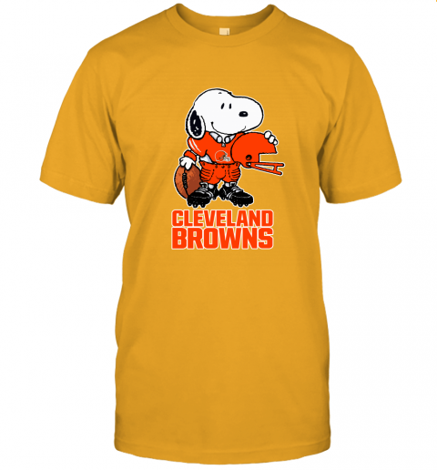 Snoopy A Strong And Proud Cleveland Browns Player NFL Unisex Jersey Tee